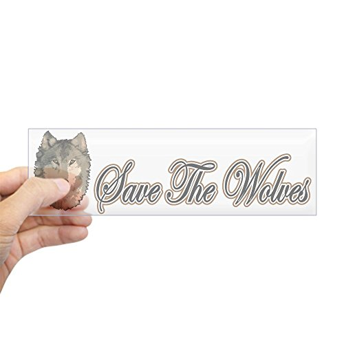 (CafePress Save The Wolves Bumper Sticker 10
