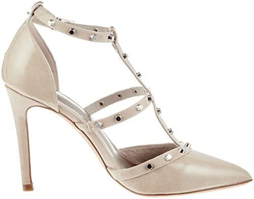 Ankle Women''s 21 Tamaris 24409 253 Patent Strap Heels Beige nude CSHqZtwx