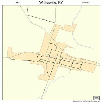 Amazon.com: Large Street & Road Map of Whitesville, Kentucky ...