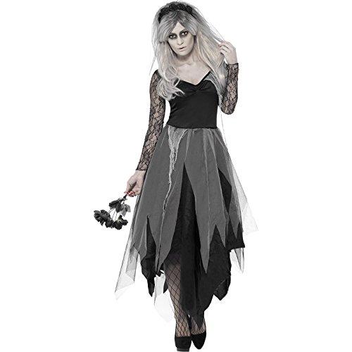 Smiffys - Disfraz de Halloween para mujer (diseño de novia cadáver): Amazon.es: Juguetes y juegos