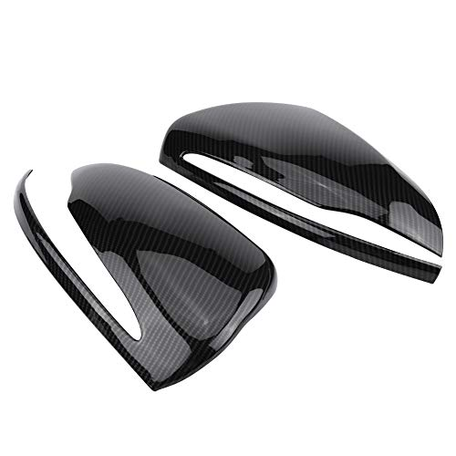 Rearview Mirror Cover, Cuque Rear View Mirror Housing Cap, Carbon Fiber Side Mirror Trim, ABS Plastic Exterior Mirror Protector for MB Mercedes-Benz C GLC E S W205 X253 W213 W222 Left Hand Driver Only