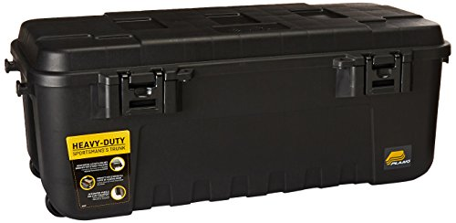 Plano 1919 Sportsman's Trunk, Black, 108-Quart (Footlocker Trunk)