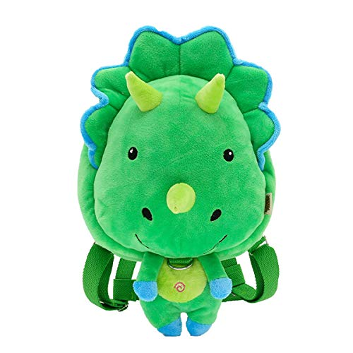 Kanodan Plush Kindergarten Kids Dinosaur Backpack Animal Cartoon Mini Schoolbag 1-5Years ()