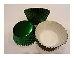Green Foil Cupcake Liners/ Cups Cake / Cupcake / Candy / Cookie DecorationsCake Supplies