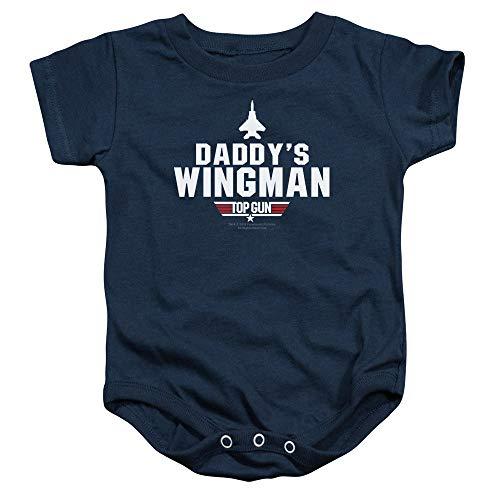 Top Gun Daddys Wingman Baby Onesie Bodysuit,