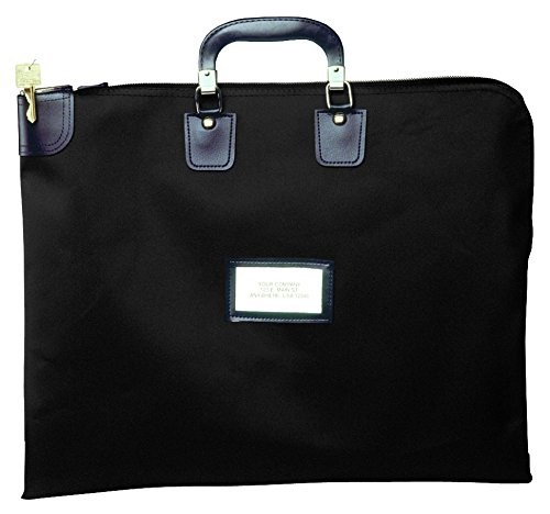 Locking Briefcase Style Courier Bag (Black)