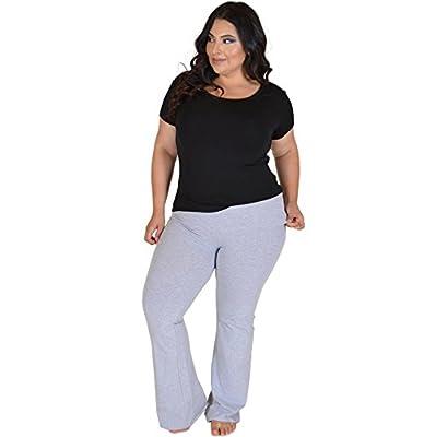 Stretch is Comfort Women's Foldover Plus Size Yoga Pants