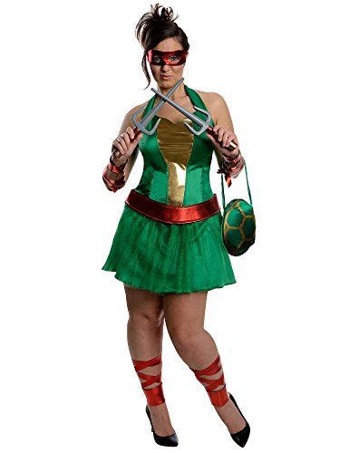 Nickelodeon Plus-Size Ninja Turtles Raphael Dress, Green, Plus Costume]()
