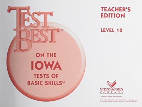 Test Best ITBS: Teacher's Edition  Grade 4 (Level 10) 1995