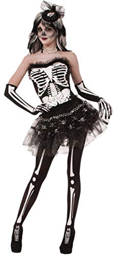 Forum Novelties Women's Bone Collection Costume Tutu, Black, One Size]()
