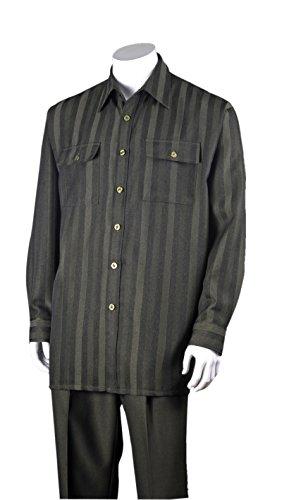 Fortino Landi Stripe Design Walking Suits 2761-Olive-Large-34