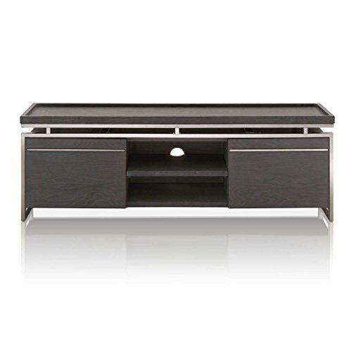 Star International Furniture 2455-TV.BWO Benson TV Unit, Black Wash Oak/Black Stainless Steel by Star International Furniture