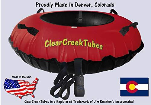 """Huge 44/"""" Inflated HEAVY DUTY Inner Tube Snow Tube Combo Blue//Orange"""