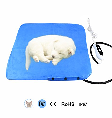 Pet Heating Pad Cat Electrical Bed Mat - Petrich Multi-functional Electric Blanket Warmer Heated Pads with 79 Inch Cable - US Adapter