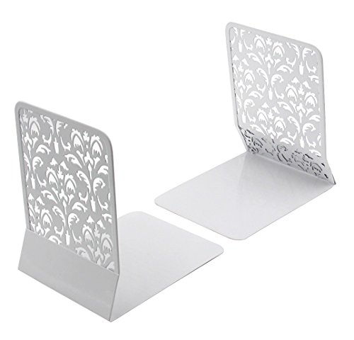 EasyPAG 6.5 Inch Desktop Book Ends Stand,White