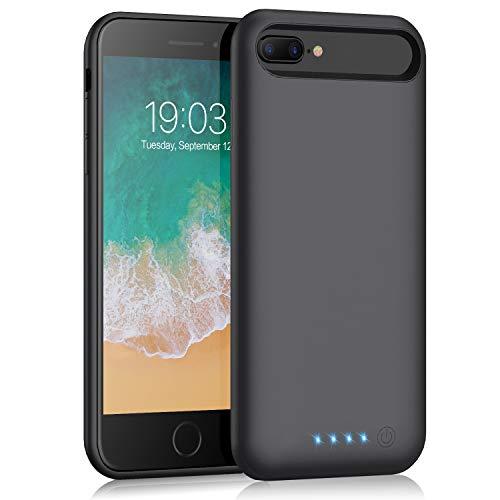 Battery case for iPhone 7 Plus/ 8 Plus/6 Plus/6s Plus, Kilponen 8500mah Portable Protective Battery Charging Case Slim Extended Rechargeable Battery Pack Charger Case for iPhone 8 Plus 7 Plus 6 Plus (Iphone 6 And Iphone 6 Plus Battery)
