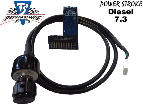 Ford Powerstroke Diesel 7.3 1994-2003 TS Performance 6 Position Chip WITH KNOB 140+ HP (Best Tuner For 7.3 Powerstroke)