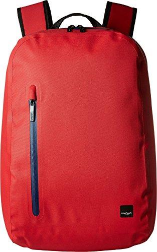 KNOMO London Mens Thames Harpsden Backpack Formula One Red One Size - Ultra Bonded Leather Zip