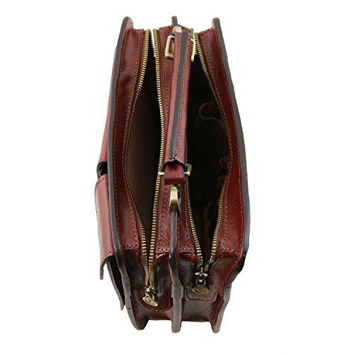 en Marron Foncé cuir Leather foncé à Tuscany Tania Marron main Sac Xf0Rq