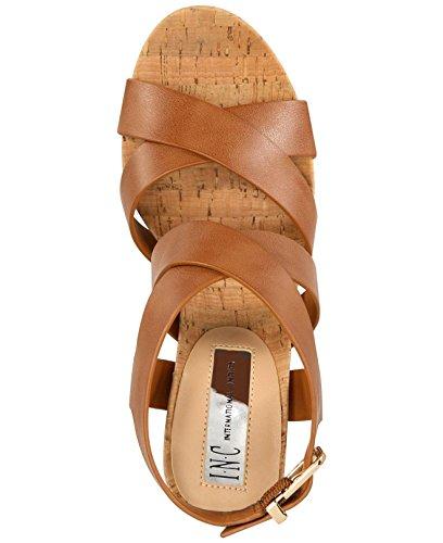 INC International Concepts Womens Landor Open Toe, Golden Cognac, Size 9.0 from INC International Concepts