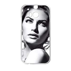 Alyssa Miller Elle Italia 003 funda HTC One M8 caja funda del teléfono celular del teléfono celular blanco cubierta de la caja funda EVAXLKNBC20617