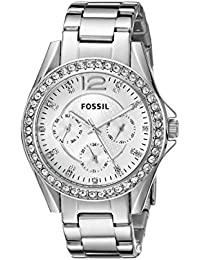 Fossil Women's ES3202 Riley Multifunction Stainless Steel...