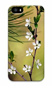 iPhone 5 3D Hard Case White Flowers 10