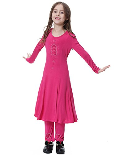 Yuntown Girl Muslim Dress + Pants Crewneck Long Sleeve Islamic Maxi Middle East by Yuntown