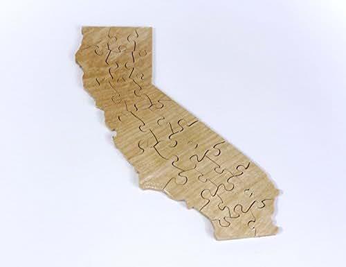 California Puzzle Handmade
