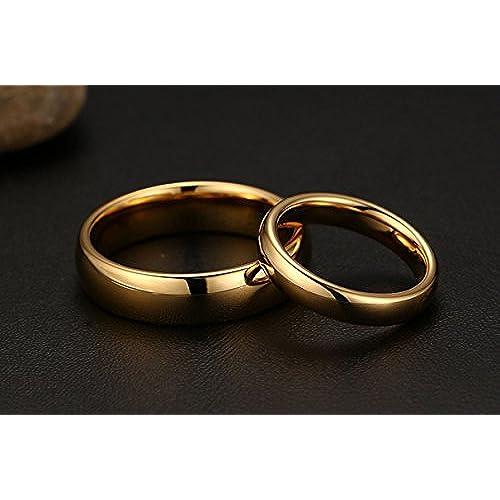 347869930450 Outlet KNSAM - Anillo de compromiso de oro de acero inoxidable para ella y  él