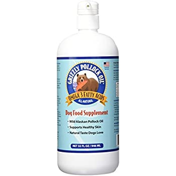 Grizzly pollock oil supplement for dogs 32 for Fish oil pills for dogs