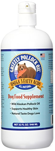 Grizzly Pollock Oil Supplement for Dogs, 32-Ounce