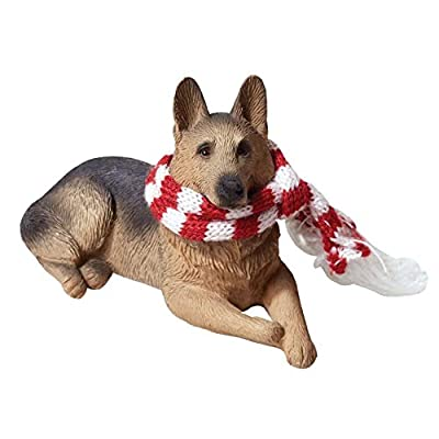 Sandicast-German-Shepherd-with-Red-and-White-Scarf-Christmas-Ornament