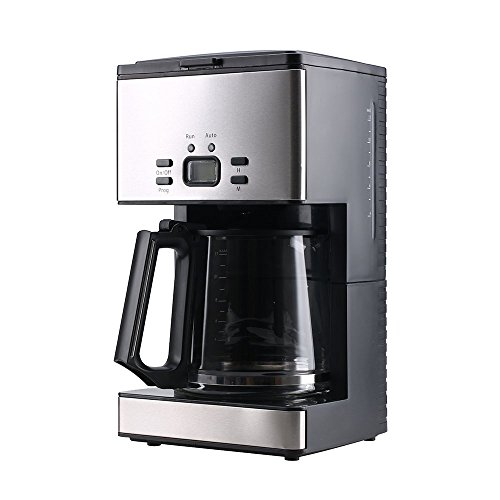 Coffee Machine,PowerDoF CM6626T 12-Cup Glass Carafe Programmable Coffee Maker (Black)