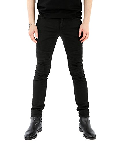 wiberlux-neil-barrett-mens-distressed-paneled-skinny-fit-jeans-31-vintage-black