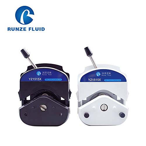 Quick Load Peristaltic Pump Head High Flow, Stainless Steel Rollers 3/6, Low Pulsation, with Silicon Tube Installed (White, 6 Rollers)