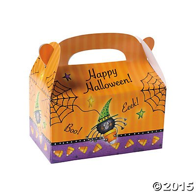 [Halloween Candy Corn Spider Treat Boxes Pack of 8] (Barney Infant Costumes)