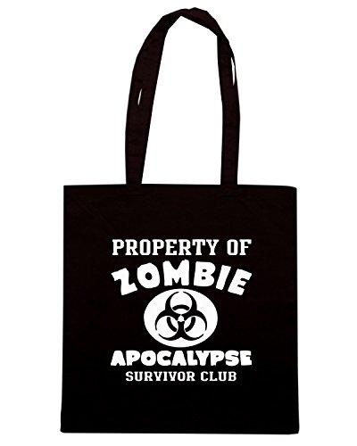T-Shirtshock - Bolsa para la compra TZOM0064 zombie survivor Negro