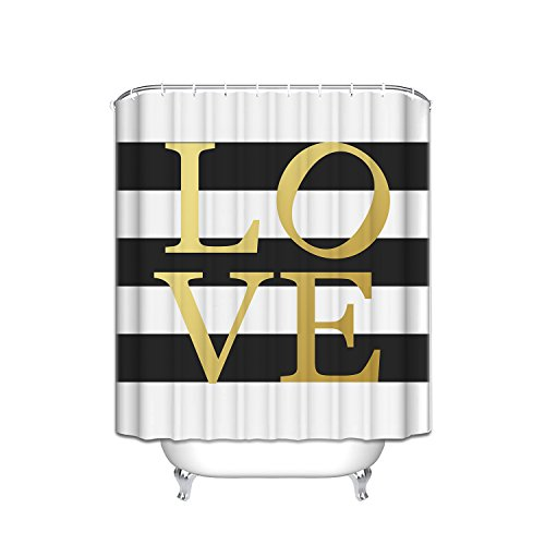 Gold Love Sign Bathroom polyester product image
