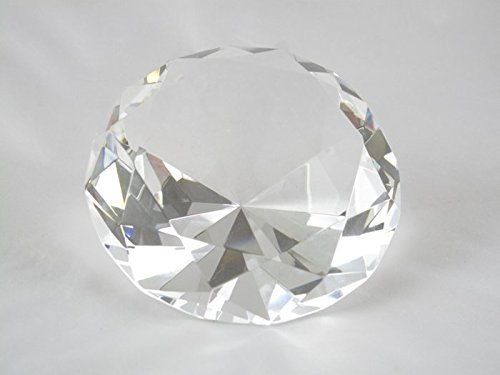 - 120mm Translucent Clear Diamond Cut K9 Crystal Paperweight Decoration