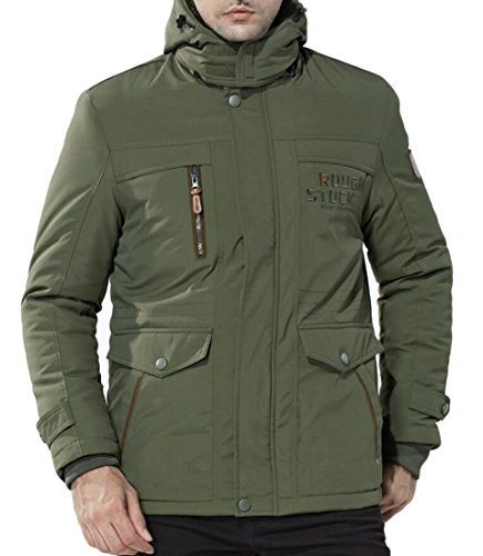 Thick Cotton amp;S Hooded 1 Coat Warm M Outwear Outdoor Men's Solid amp;W qw80Uw1Yn