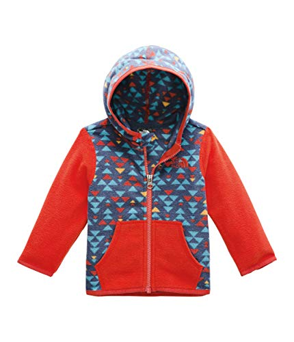 (The North Face Kids Unisex Glacier Hoodie (Infant) Shady Blue Mini Aztec Print 18-24 Months)