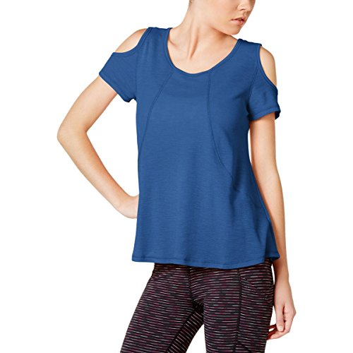 Calvin Klein Performance Womens Yoga Fitness Pullover Top Blue M