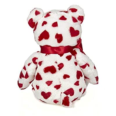 Bearington Lil' Cutie White Valentines Plush Stuffed Animal Teddy Bear with Hearts, 14 inches: Toys & Games