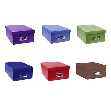 Pioneer Photo/Video Storage Box Assorted Colors  sc 1 st  Amazon.com & Amazon.com : Pioneer Photo/Video Storage Box Assorted Colors : Acid ...