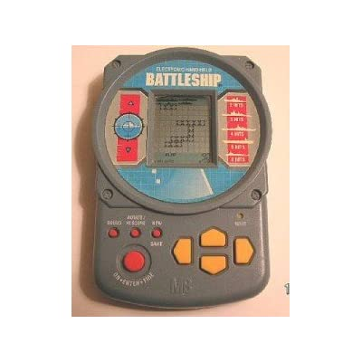 Electronic Battleship Handheld Game (1995 Grey Case)