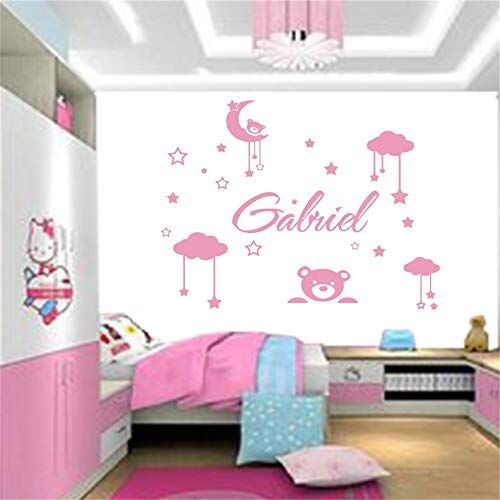Vinyl Wall Decal Wall Stickers Art Decor Personality Name Cute Teddy Bear for Nursery Kids Room