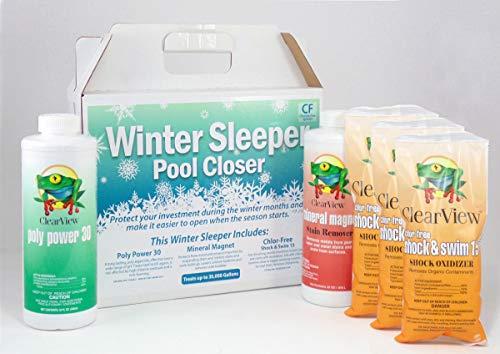 CLEARVIEW Winter Sleeper Pool Closing Kit 35,000 gal- Chlorine Free