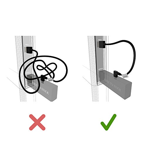 EXINOZ Universal Mini Power Cable For Fire TV Stick, Roku, Chromecast. Powers Your Streaming Media Device from Your TV USB Port (2 Pack) by Exinoz (Image #5)