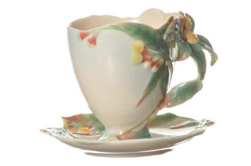 Saucer Herb Cup (Franz Porcelain Clove Herb Sculptured Cup and Saucer Set FZ00462)